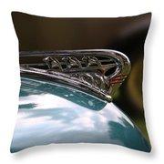 Art Deco Plymouth Hood Ornament Throw Pillow