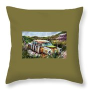 Plymouth On The Rocks Throw Pillow