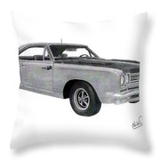 Plymouth Road Runner 1969 Throw Pillow