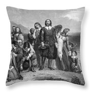 Plymouth Rock: Landing Throw Pillow