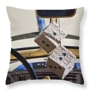Plymouth Special Deluxe Dice Throw Pillow