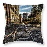 Plymouth Street Sundown Throw Pillow