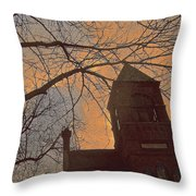 Plymouth Town Hall Throw Pillow