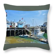 Plymouth Waterfront Throw Pillow