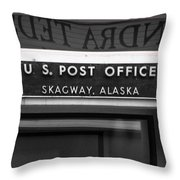 P O Skagway Throw Pillow