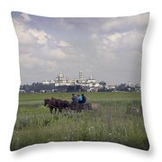 Pochaiv Monastery Ukraine Throw Pillow