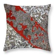 Pockmarked Concrete Throw Pillow