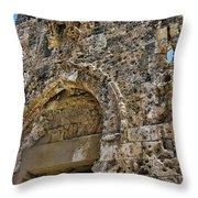 Pockmarks Of War Throw Pillow