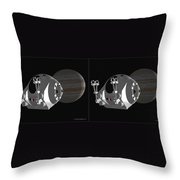 Pod 2001 - Gently Cross Your Eyes And Focus On The Middle Image Throw Pillow
