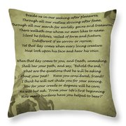 Poem The Question By Ella Wheeler Wilcox Throw Pillow