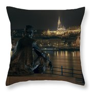 Poet On The Danube Throw Pillow
