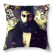 Poetry Man Throw Pillow