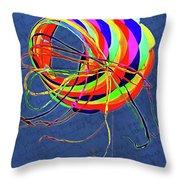 Poetry Of Kite Swirls Throw Pillow