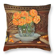 Poetry Of Roses Throw Pillow