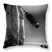 Poetry Pants And Flamethrower  Throw Pillow by Bob Orsillo