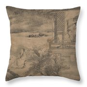 Poets Gathering In The Orchid Pavilion Throw Pillow