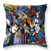 Poets Unleashed  Throw Pillow by Anthony Falbo