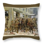 Pogrom Of Wine Shop Throw Pillow