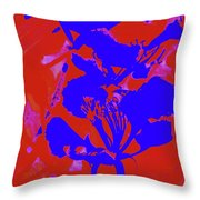 Poinciana Flower 4 Throw Pillow