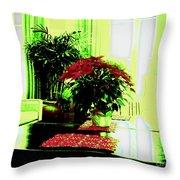Poinsettia By Kef Throw Pillow