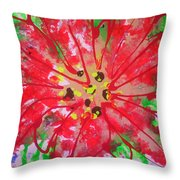 Poinsettia For Christmas Throw Pillow