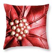 Poinsettia Abstract Throw Pillow