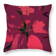 Poinsettias Work Number 4 Throw Pillow