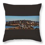 Point Allerton From Fort Revere Throw Pillow