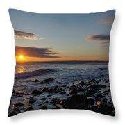 Point Allerton Sunrise - Nantasket Island Throw Pillow