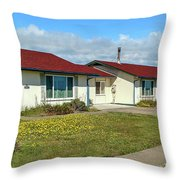 Point Arena Lighthouse Keeper's Houses Lodging Throw Pillow