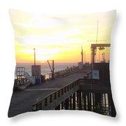 Point Arena Wharf Throw Pillow