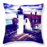 Point Betsie On Lake Michigan Throw Pillow
