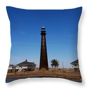 Point Bolivar Lighthouse Tx Throw Pillow