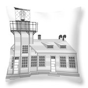 Point Cabrillo Architectural Drawing Throw Pillow