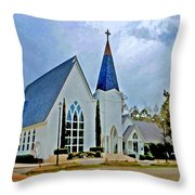 Point Clear Alabama St. Francis Church Throw Pillow