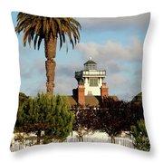 Point Fermin Light - San Pedro - Southern California Throw Pillow
