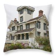 Point Fermin Lighthouse Throw Pillow