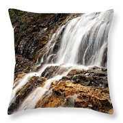 Point Lace Falls 1 Throw Pillow