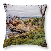 Point Lobos State Reserve Throw Pillow