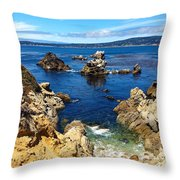 Point Lobos Whalers Cove- Seascape Art Throw Pillow