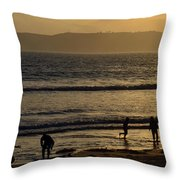 Point Loma California Surfers Throw Pillow