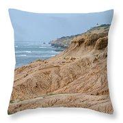 Point Loma Coastline Throw Pillow