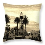 Point Loma Lighthouse Throw Pillow
