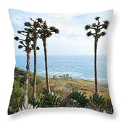Point Loma Lighthouse Overlook Throw Pillow