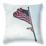 Point No Point American Flag Throw Pillow