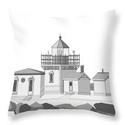 Point No Point As Architectural Drawing Throw Pillow