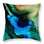 Point Of Power - Abstract Painting By Sharon Cummings Throw Pillow