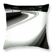 Point Park Fountain Winter, Pittsburgh Pa  Throw Pillow