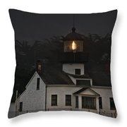 Point Pinos Lighthouse Ca Throw Pillow by Christine Till