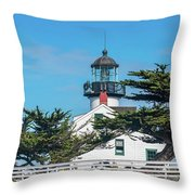 Point Pinos Lighthouse Throw Pillow